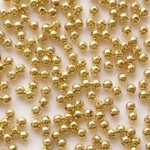 Gold Plated Beads 2.5mm Round - 100